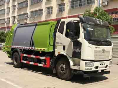 国六解放压缩式垃圾车
